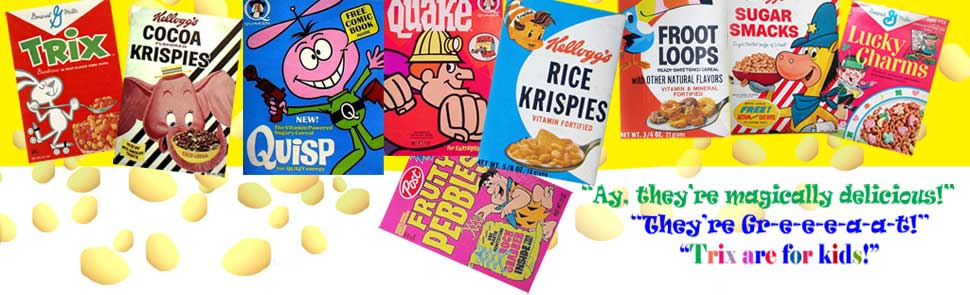 60's cereal boxes