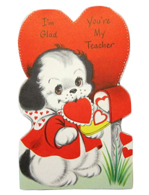 vintage 60's valentine card